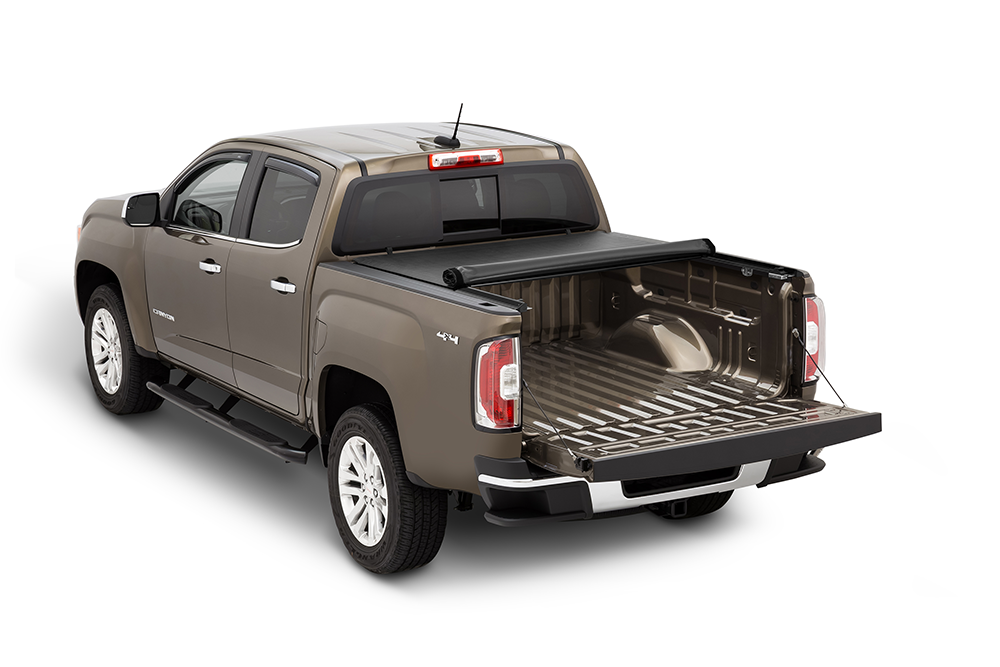 2015 - 2018 GMC Canyon Tonno Pro Lo-Roll Roll Up Tonneau Cover-matsandcovers.com